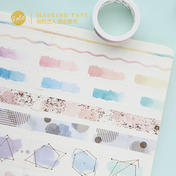 Neue aquarell vergoldung washi klebeband DIY dekoration scrapbooking planer masking tape klebeband label aufkleber schreibwaren