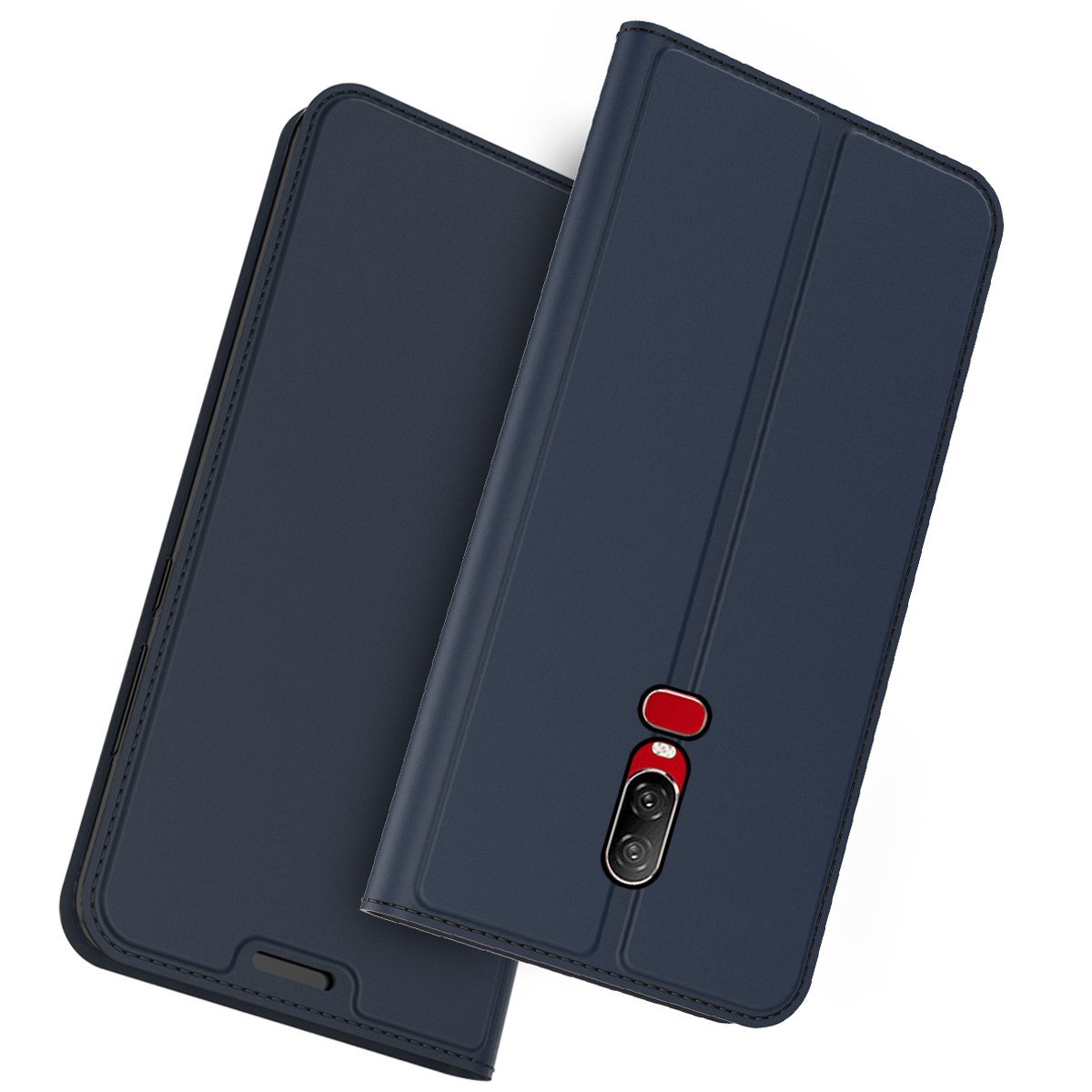 For font b OnePlus b font 6T 5G Case PU Leather Flip Stand Magnetic Wallet Cover