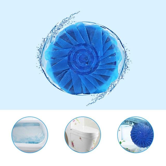 Magia di Scarico Automatica Wc Cleaner Stain Remover Blu Tablet Serbatoio A Filo