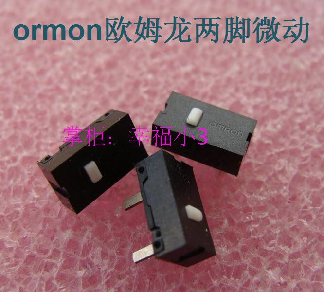 10pcs/lot Original OMRON Mouse Micro Switch Mouse Button Silver Contacts 2 Feet Micro Switch