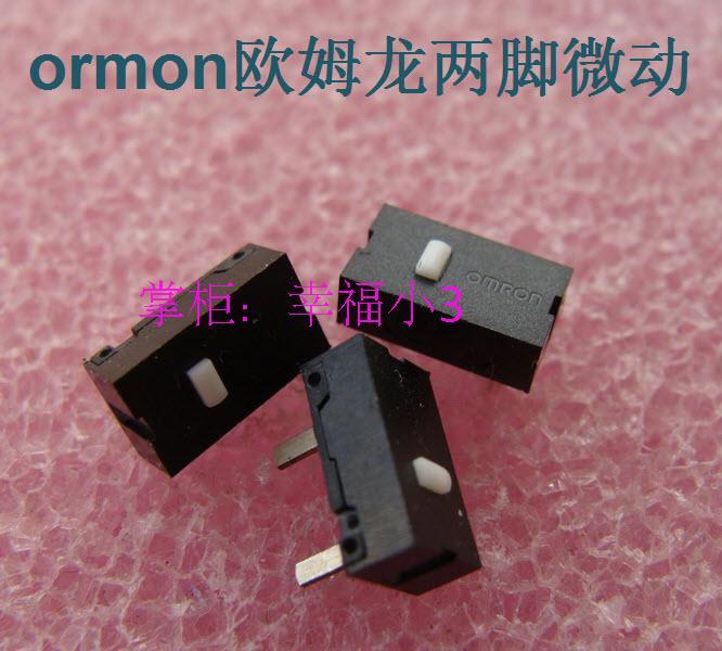 цена на 10pcs/lot Original OMRON mouse micro switch mouse button silver contacts 2 feet micro switch