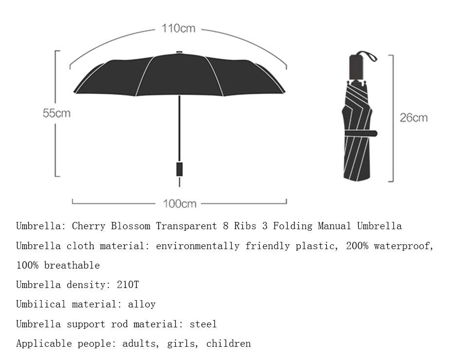 Portable Tri-Folded Umbrella for Rainy and Sunny Days Merery 8 Colors Rainbow Umbrella