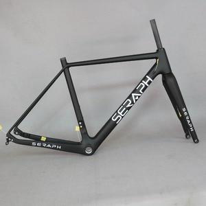 Image 3 - Cuadro de bicicleta de carbono 2020 grava 700C disponible, SERAPH bikes Thru Axle 142mm grava Di2 cuadro de ciclocross disco de carbono nuevo marco