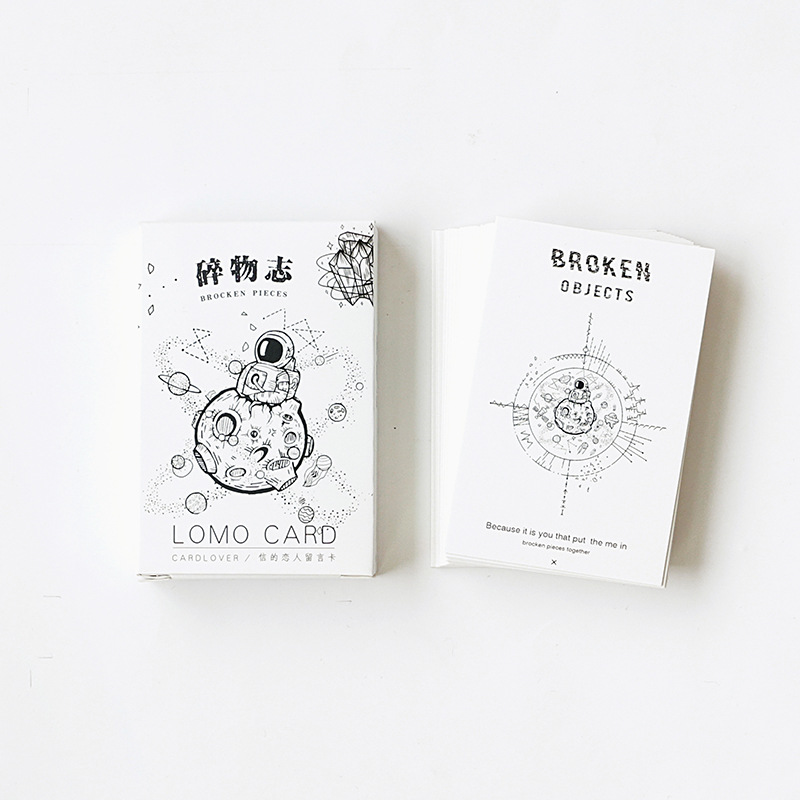 28 Sheets/Set Novelty Broken Objects Mini Greeting Card Postcard/Wish Card/Christmas And New Year Gifts