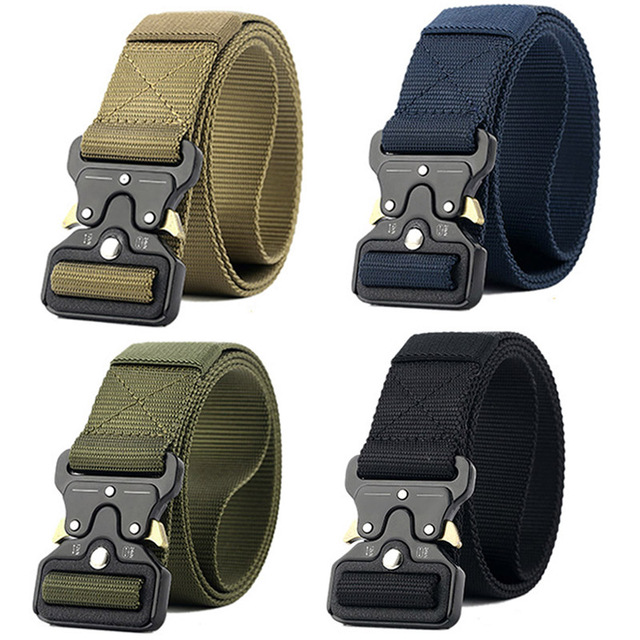New Style Military Combat Tactical Belt Men Thicken Metal Buckle Nylon Military Belts Heavy Duty Molle Carry Survival Waist Belt