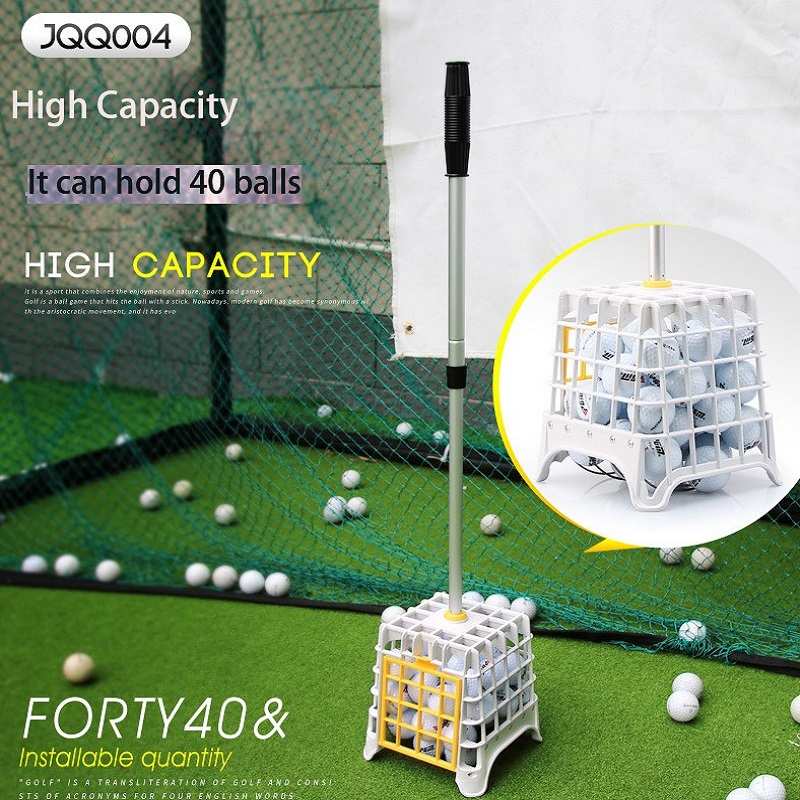 PGM Golf Sports Ball Collector Device Convenient Easy Pick Ball Standing Artifact Course Supplies High Capacity Can Hold 40 Ball