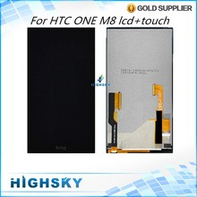 For HTC ONE M8 LCD Display With Touch Screen  Digitizer Assembly Replacement Parts 1 Piece Free Shipping
