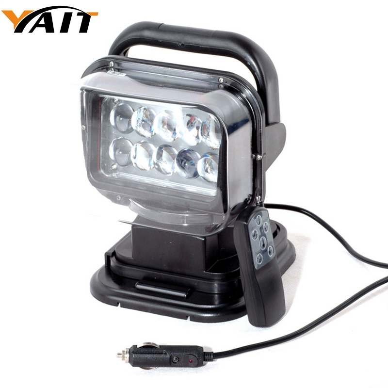 Yait 1pc 50W Wireless Led Marine Search Light 12V 24V LED Searching Light Remote Control Spot Light Car LED Work Light 12V 3 led car spot light