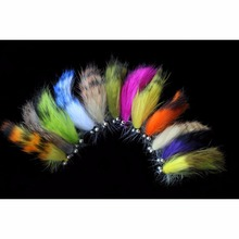 Tigofly 12 pcs Colors Assorted Zonker Streamers Trout Fly Fishing Flies Lures Fly Set-Size #6