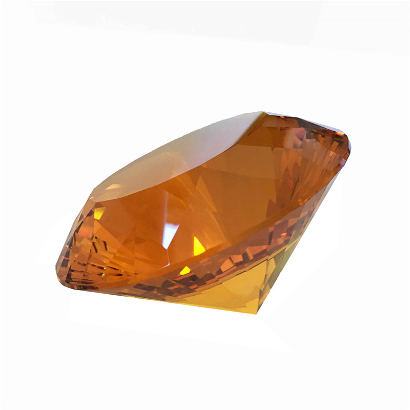120mm 1pcs Amber Diamond Pendants Glass Decorative Crystal  Paperweight  For Holiday Free Shipping120mm 1pcs Amber Diamond Pendants Glass Decorative Crystal  Paperweight  For Holiday Free Shipping
