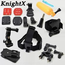 KnightX Head Strap J-shape Base Float Grip For Gopro accessories for go pro hero 6 5 4 sjcam sj4000 for xiomi kit for xiaomi yi(China)