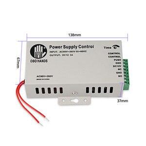 Image 5 - Sistema de Control de Acceso de puerta RFID OBO, 125KHz, huella dactilar biométrica + cerraduras electrónicas magnéticas eléctricas + fuente de alimentación DC12V