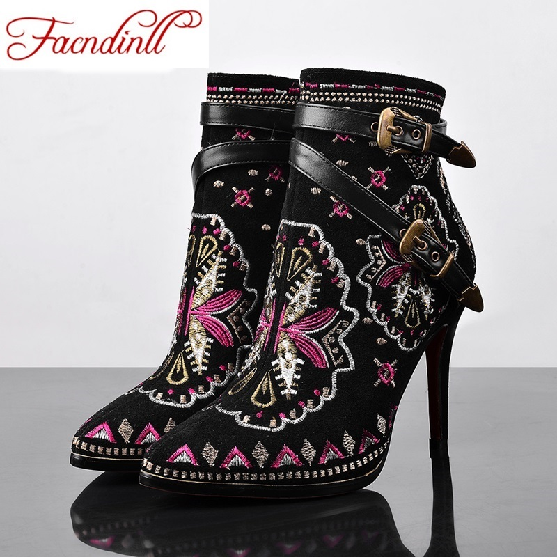 ФОТО new fashion chinese style women ankle boots ladies winter boots black zipper casual shoes leather ankle boots woman size 34-41