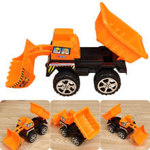 Mini Baby Children Toy Construction Vehicle Cars Forklift Bulldozer Road Roller Excavator Dump Truck Tractor Toys for Boy(China)