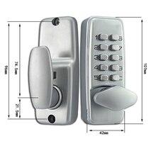 Zinc Alloy Miniature Mechanical Combination Lock Numberal Deadbolt Door Digital Lock Keyless Password Non-Power Special Lock