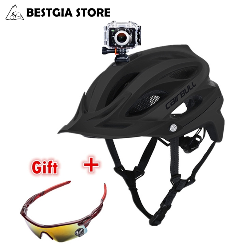CAIRBULL MTB DVR Bicycle Helmet Sports Action Video Camera Installable Cycling Helmet Mountain OFF ROAD Bike