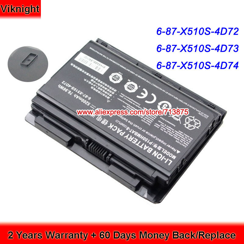 P150SM P151SM1 P150EM P150HMBAT-8 Clevo Laptop Battery 14.8V 5200mAh clevo p150hmbat 8 battery for p150em 6 87 x510s 4d72 6 87 x510s 4d73 x510s eon17 s clevo laptop batteries