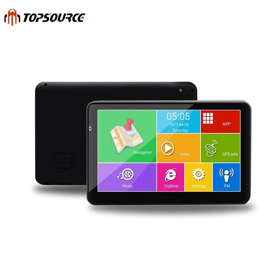 """Topsource 5 """"800*480 5 дюймов HD Автомобильный GPS навигации Android грузовик GPS навигатор с Автомобильное зарядное устройство Бесплатная GPS Навител русский"""