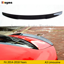 цена на V Style Carbon Fiber rear trunk spoiler For Audi A3 8V limousine Sline S3 2014 2015 2016 2017 2018 year Car rear wing spoiler
