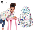 2017 New Spring Summer Cartoon Animals Graffiti Girl Hooded Coat Outerwear Girls Windbreaker Baby Jacket Children Kids Clothes