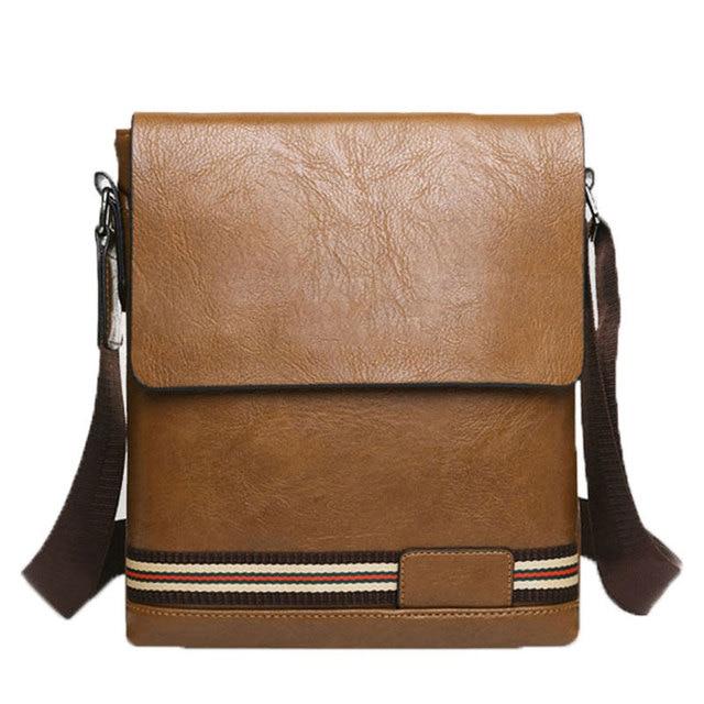 2016 new fashion trend of men s fashion business casual shoulder bag  Messenger bag PU leather side bag vertical section 39 4e6dce855a8