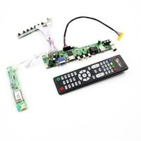 LCD TV controller board support TV AV VGA Audio USB HDMI for 15.6 inch 1366X768 B156XW01 V0 16 inch LTN160AT01 lcd panel diy