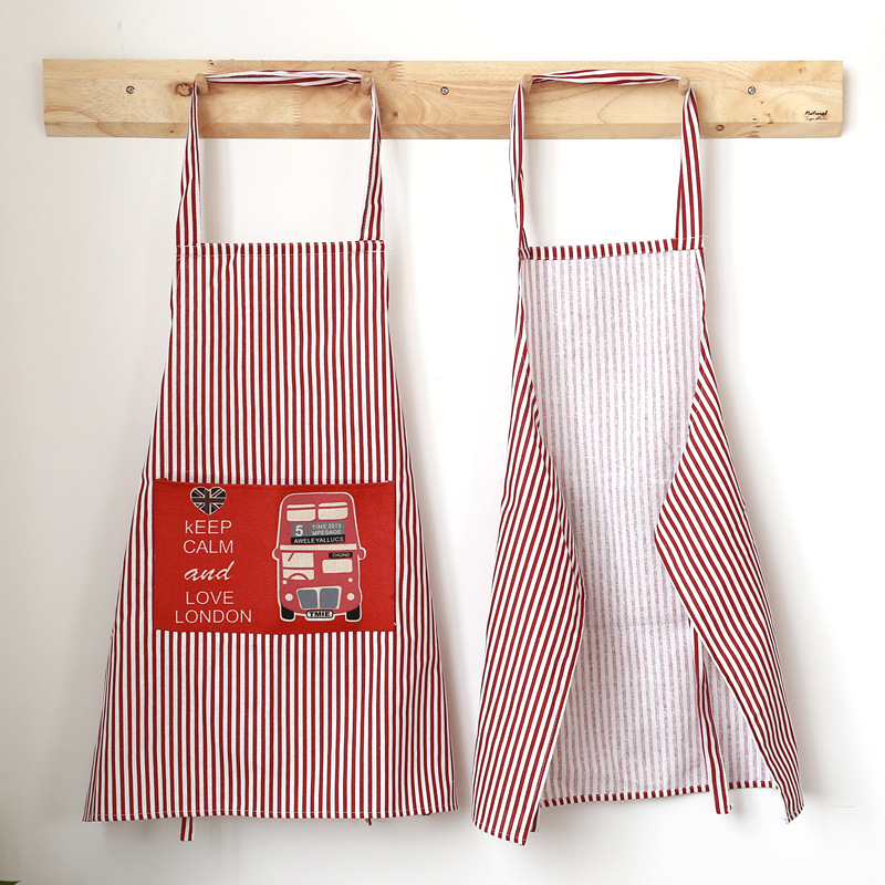 Kitchen Cotton Apron Cooking Panting Apron Waterproof OilProof Nail Work Clothes Resturant Work Clothes Apron Women