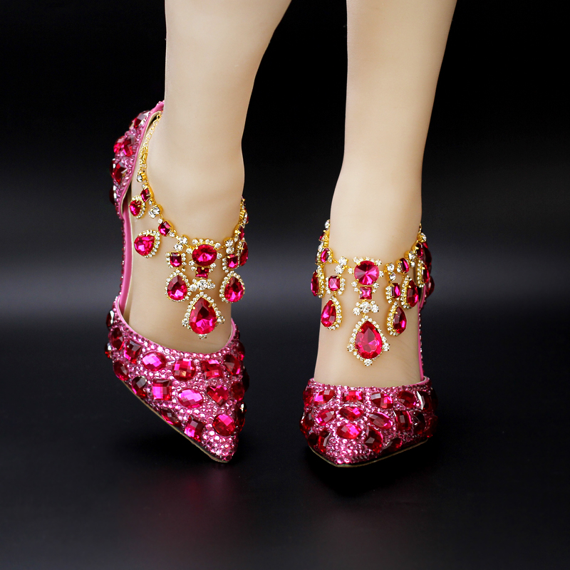 High Quality Pink Rhinestone Heels-Buy Cheap Pink Rhinestone Heels ...