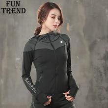 Hoodie Sweatshirt Jacket Coat Sportswear Women Sport Running Long Sleeve Yoga Shirt Top Gym