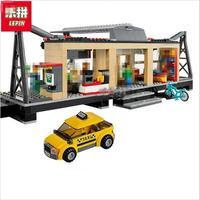 Lepin 02015 456pcs City Series Train Station Building Block Compatible 60050 Brick Toy