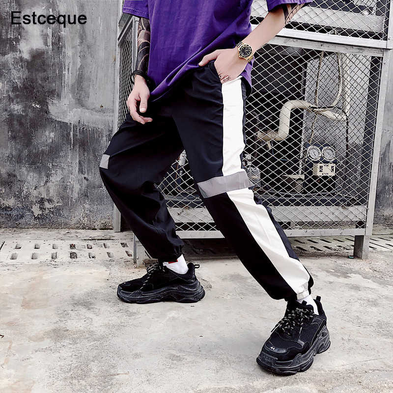 New Female Hip Hop High Waist Harem Pants Women Men Slim reflect light Pants Hip Hop Sweetwear Trouser
