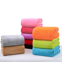 Useful High Quality Super Soft Flannel Plain Bedspread Blanket Throws Fleece Blanket Manta Coberto For Sofa Bed Car Office