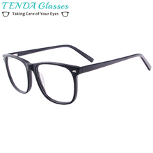 Для мужчин и женщин ацетатная оправа для очков очки по рецепту квадратные очки с пружинными петлями для линз Близорукость прогрессивные