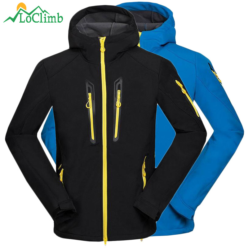 LoClimb Waterproof Fleece Softshell Hiking Jackets Men Winter Trekking Camping Climbing Coat Outdoor Windproof Ski Jacket ,AM105 стоимость