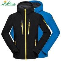 LoClimb Waterproof Fleece Softshell Hiking Jackets Men Winter Trekking Camping Climbing Coat Outdoor Windproof Ski Jacket ,AM105