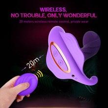 Female Masturbation Wireless Remote Control Wear Dildo Woman Butterfly Vibrator Egg Electric Penis Massage Vagina Adult Sex Toys
