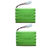 2 шт. 12 В 2400 мАч Ni-MH Bateria 12 В rc аккумулятор NiMH аккумулятор Пилас recargables 12 В пакет 10X размер AA Ni MH для RC автомобильный аккумулятор игрушка