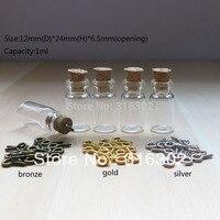 20 шт./лот смешанный форма пробки стеклянная бутылка с глаз крюк, малый шарм стеклянные бутылки, стеклянная пробирка кулон