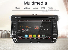 bosion 7″ 2 din Car DVD GPS radio player Android 6.0 1024*600 Bluetooth FM for Volkswagen VW golf 5 6 touran passat Audio Stereo