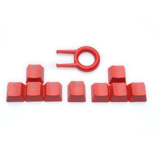 PBT llaveros retroiluminados WASD/ESC/Direction Cherry MX Keycaps con  tirador de llave para interruptores MX retroiluminados mecánicos teclado de
