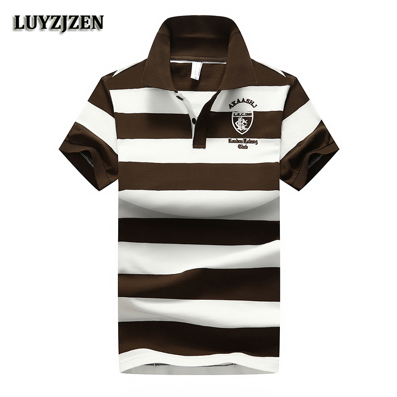 2018 New Brand   Polo   Shirt Men Cotton Striped Summer   Polo   Shirts Short Sleeve Poloshirts Mens Casual Business Quality Clothing 08
