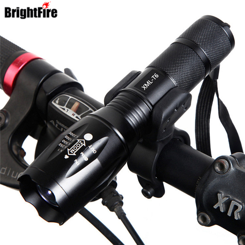 Professional CREE XM-L T6 3800LM 5 Modes Bicycle Light Torch Waterproof Zoomable LED Flashlight Bike Light With Torch Holder zk35 cree xm l 3800 lm q5 led flashlight torch zoomable light black led bicycle light with battery and charger holder