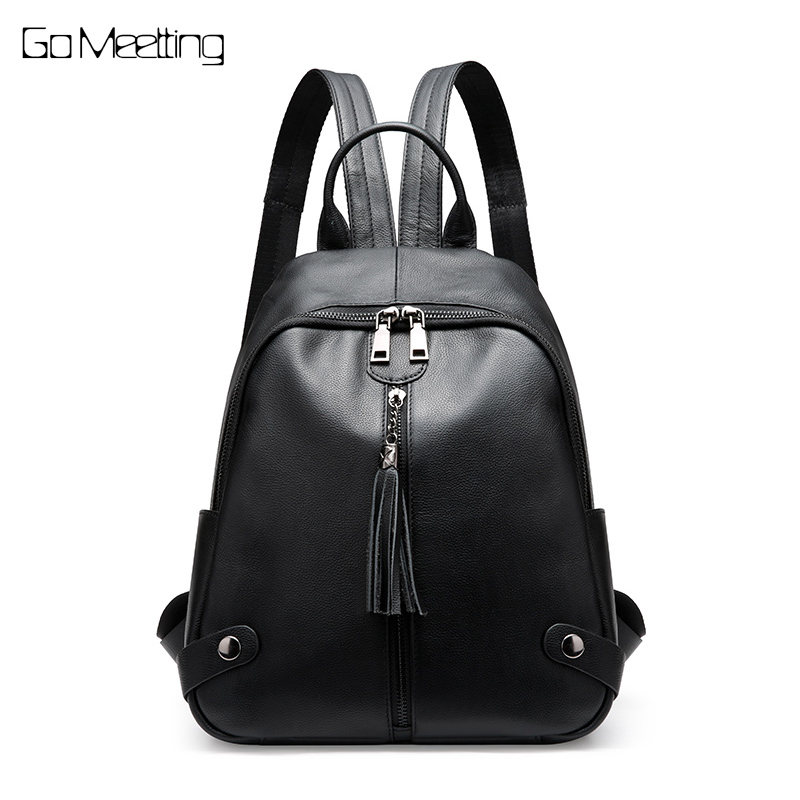 New 2018 Fashion Genuine Leather Backpack Women Bags Preppy Style Backpacks Girls School Bags Zipper Kanken Leather Back pack korea style fashion backpacks for men and women solid preppy style soft back pack unisex school bags big capicity canvas bag