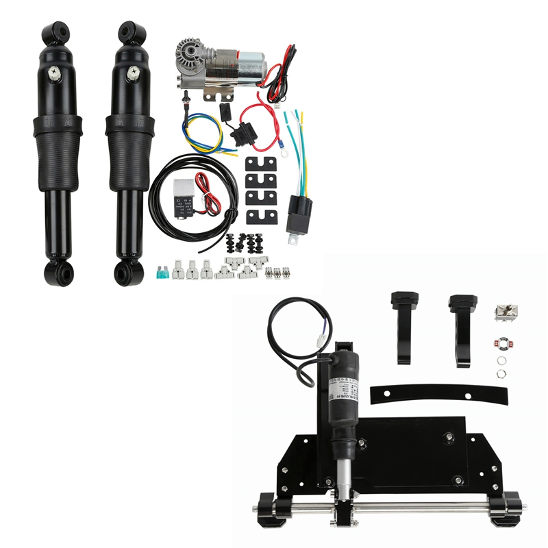 Rear Air Ride Suspension Electric Center Stand For Harley Electra Glide Touring Road Street Glide Bagger