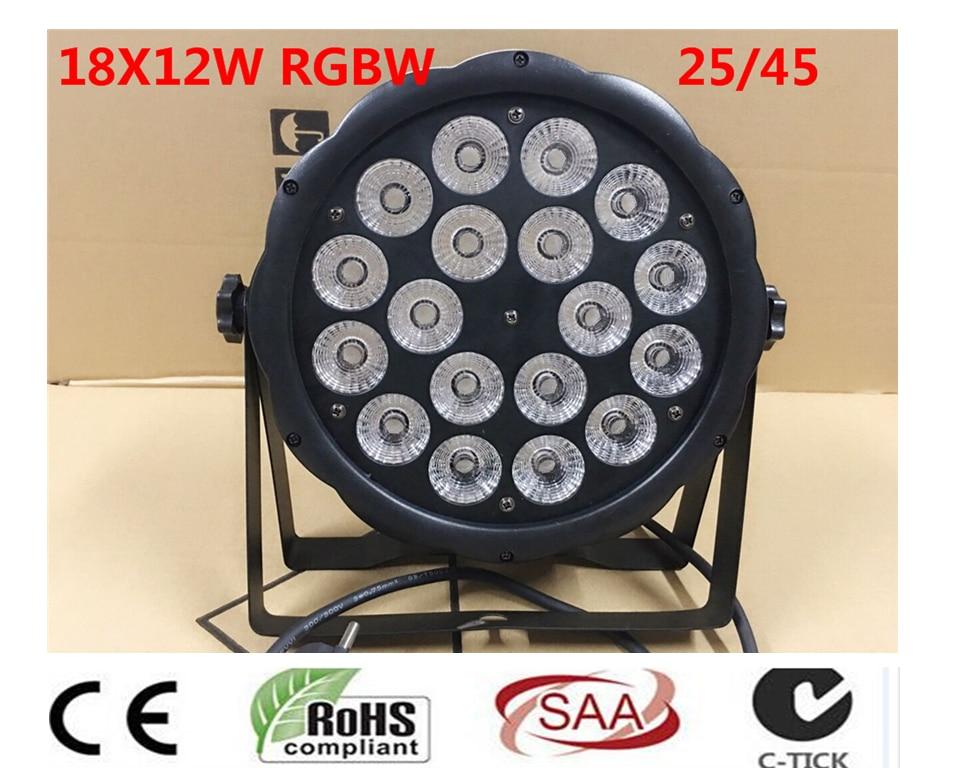LED Par 18x12 W RGBW 4IN1 luce della lavata di Lusso controlador DMX Led Flat Par Luci dj