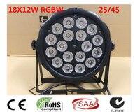 LED Par 18x12 W RGBW 4IN1 Luce Della Lavata Di Lusso Controller DMX Led Flat Par