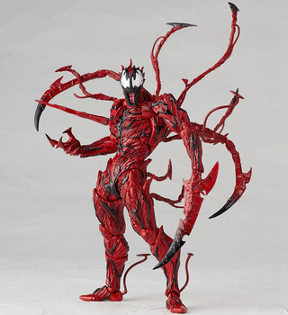 Amazing Yamaguchi Revoltech Series NO.008 Carnage Marvel Toys The Amazing Spider-Man Action Figure PVC Collectible Model Toy