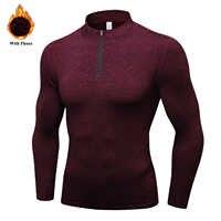 Men's Thermal Fleece Running Jacket Workout Sports Coat Winter Warm Down Jackets Zipper Gym Jogging Hoodies EU Size XXL