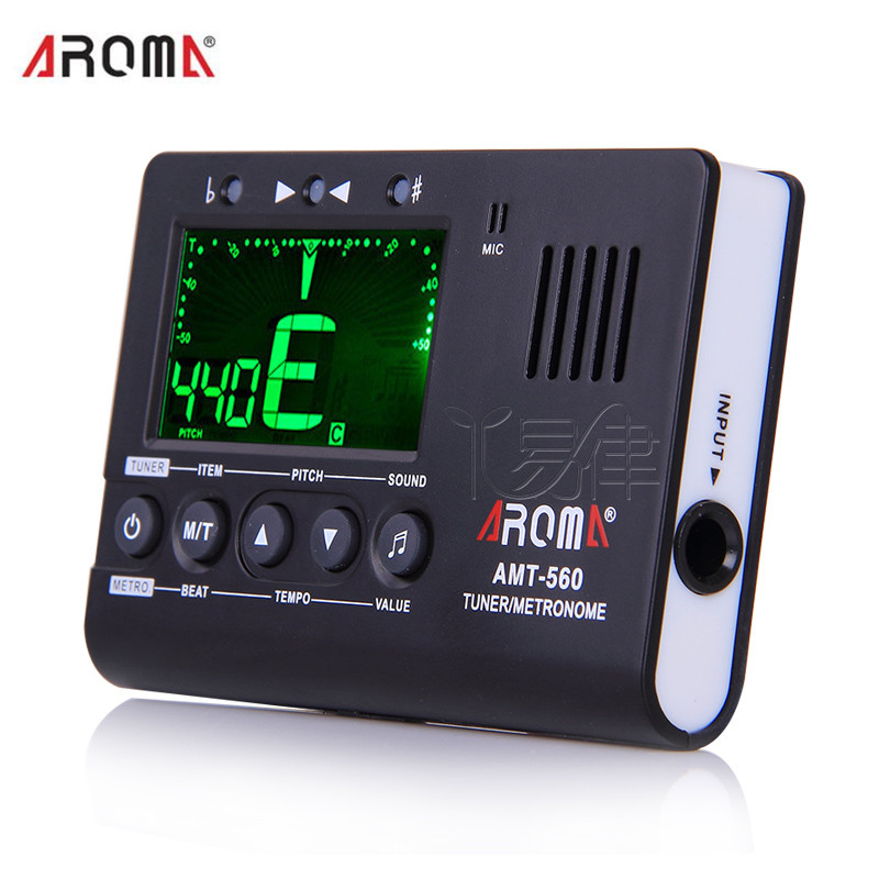 AROMA AMT-560 Tuner Norma Bass Guitar Violin School general Tone  three in one Electronic metronome freight free drums and guitar general rhythm marker piano electronic metronome general instrument rhythm auxiliary parts