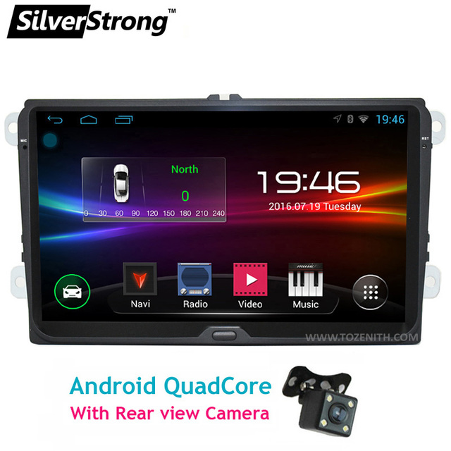 SilverStrong Android 9inch B6 Passat Radio Car GPS without DVD Player For VW Golf GPS For VW Polo GPS Navigation Android OS 67S